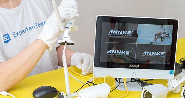 ANNKE Sicherheitssystem mit LCD-Monitor im Test - automatischer Bildschirmschoner Schutz speziell für Energiespar- und Datenschutz entwickelt