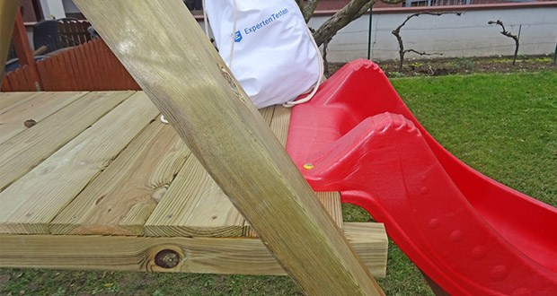 WICKEY Doppelschaukel mit Rutsche im Test - kesseldruckimprägniertes Massivholz
