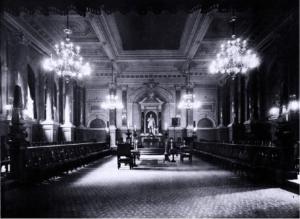 Schröder-Saal nach dem großen Freimaurer Friedrich Ludwig Schröder Distriktsloge Hamburg Verein