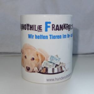 Tasse Hundenothilfe Frankfreich Verein