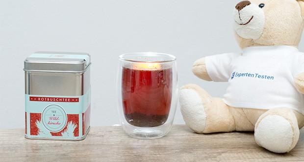 Dolcana Rotbusch/Wildkirsche Tee im Test - der unverwechselbare, kräftige Geschmack der natürlichen Wildkirsche mit einem Hauch von Amaretto