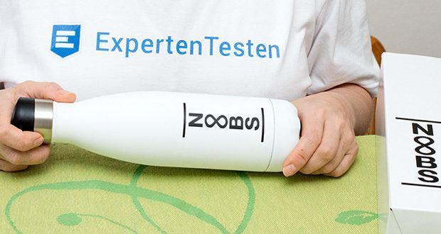 Noobs Premium Thermosflasche 500ml weiß im Test - besticht durch Ihr auffallend ansprechendes Design