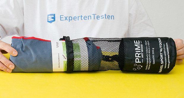 PRIME ART WOOD Microfaser Handtücher im Test - durch die antibakterielle Wirkung von Mikrofasern bleibt dein Handtuch langanhaltend geruchlos und hygienisch