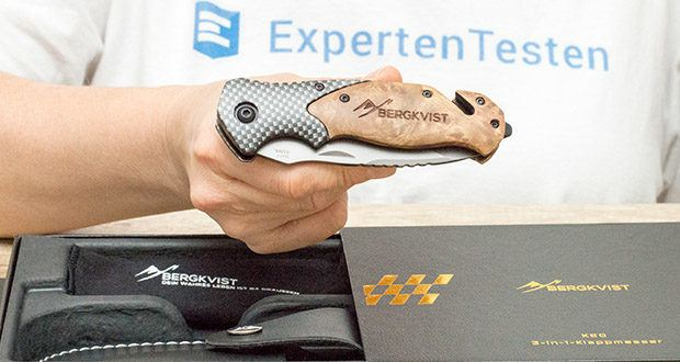 ERGKVIST 3-in-1 Outdoormesser K20 im Test - ergonomischer Echtholz-Griff
