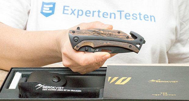 BERGKVIST 3-in-1 Taschenmesser K29 Tiger im Test - ergonomischer Echtholz-Griff