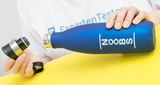 Noobs Premium Trinkflasche 500ml blau im Test - mit Vakuum gefüllte Innenwand