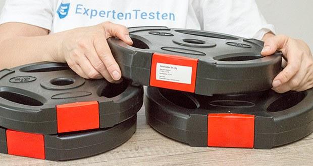 Wellactive Hantelscheiben Set im Test - aus hochverdichtetem Zement mit Kunststoffummantelung für die optimale Gewichtsverteilung