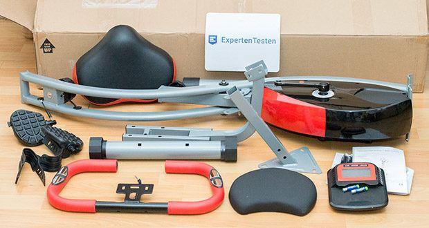 Wellactive Heimtrainer F-Bike Curved im Test - inkl. klappbarer Rückenlehne und mobiler Halterung/Tablet-Halterung