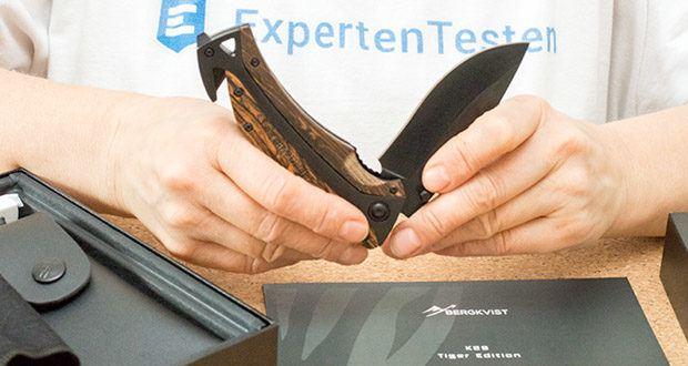 BERGKVIST 3-in-1 Taschenmesser K29 Tiger im Test - Daumen Lock für mehr Sicherheit