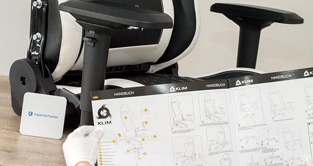 KLIM Esports Gaming Stuhl im Test - einfache Montage in ca. 15 Minuten