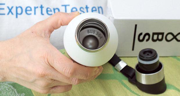 Noobs Premium Thermosflasche 500ml weiß im Test - aus hochwertigem doppelwandigem Edelstahl