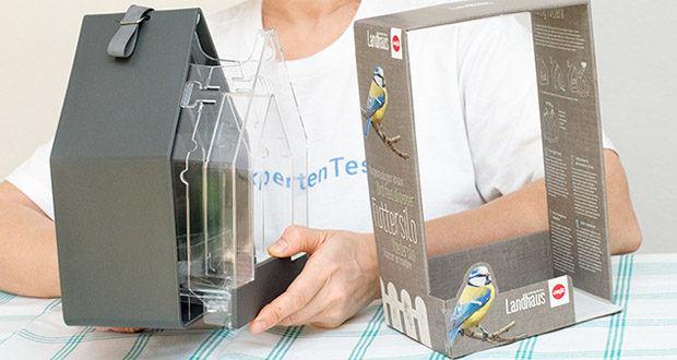 Emsa Vogel-Futtersilo im Test - einfache Füllstandskontrolle
