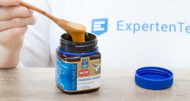 Manuka-Health Manuka Honig MGO 250+ (250 g) im Test - kommt aus abgelegenen, unberührten Gebieten Neuseelands