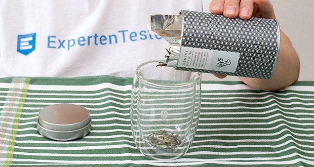 Rare Tea Company Jasmine White Silver Tip Tee im Test - Gramm für eine Tasse Tee (150ml): 2g oder ein gehäufter Teelöffel