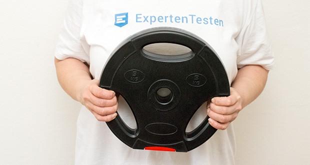 Wellactive Hantelscheiben Set im Test - mit drei Eingriffen für Übungen ohne Hantelstange