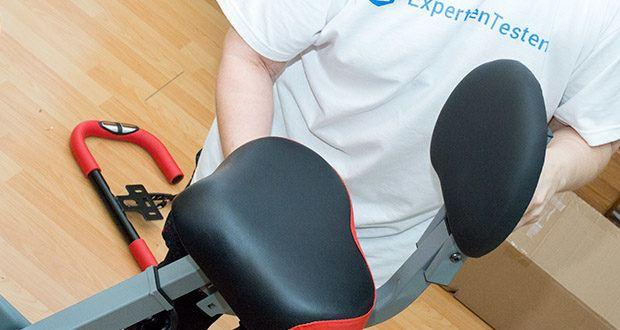 Wellactive Heimtrainer F-Bike Curved im Test - höhenverstellbarer Sitz