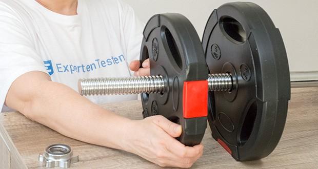 Wellactive Langhantelstange im Test - Max. Belastung: ca. 136 kg