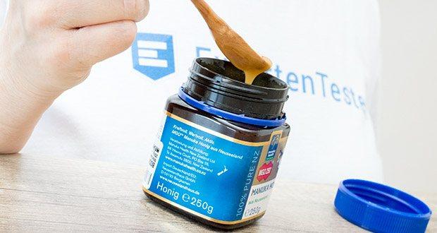 Manuka-Health Manuka Honig MGO 250+ (250 g) im Test - Gebrauchsanweisung: Pur genießen und möglichst langsam
