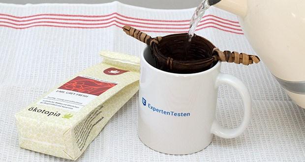 Ökotopia Schwarzer Tee Earl Grey 75g im Test - mit dem ätherischen Öl der Bergamotte aromatisierte traditionelle Teebasis aus Ceylon, Darjeeling und Südindien