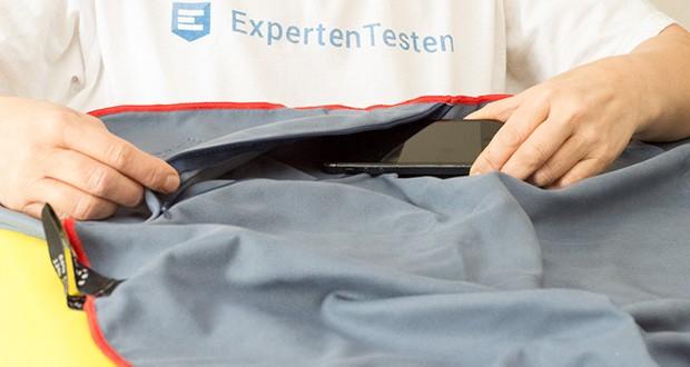 PRIME ART WOOD Microfaser Handtücher im Test - bietet in der Ecke eine extra Staufläche für deine wichtigsten Gegenstände