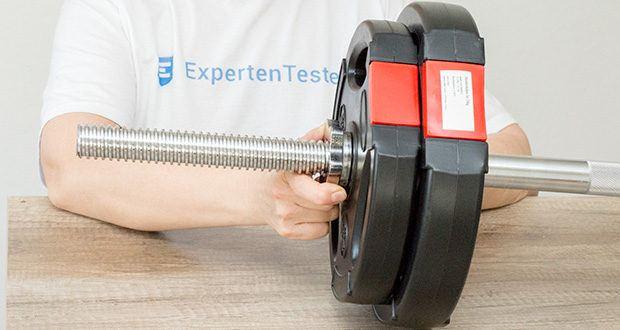 Wellactive Langhantelstange im Test - hohe Kompatibilität durch 30-mm-Bohrung für optionale Hantelscheiben
