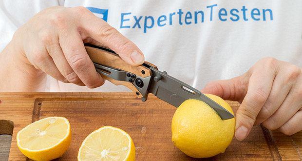BERGKVIST Klappmesser K29 Titanium im Test - es eignet sich hervorragend als Survival-Messer, Schnitzmesser, Gemüsemesser, Outdoor Küchenmesser, Angelmesser, Arbeitsmesser oder Überlebensmesser