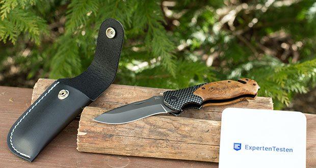 ERGKVIST 3-in-1 Outdoormesser K20 im Test - mit ergonomischem Echtholz-Griff und Titanium-Klinge