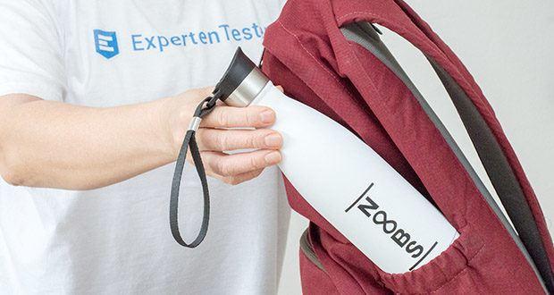 Noobs Premium Thermosflasche 500ml weiß im Test - mit stabilem Tragehenkel als perfekter Weg Begleiter für Unterwegs