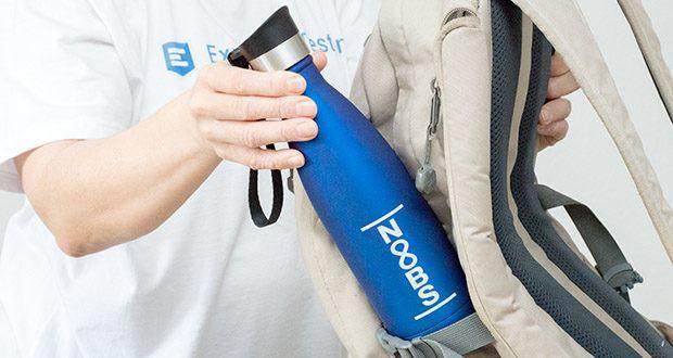 Noobs Premium Trinkflasche 500ml blau im Test - mit stabilem Tragehenkel als perfekter Weg Begleiter für Unterwegs