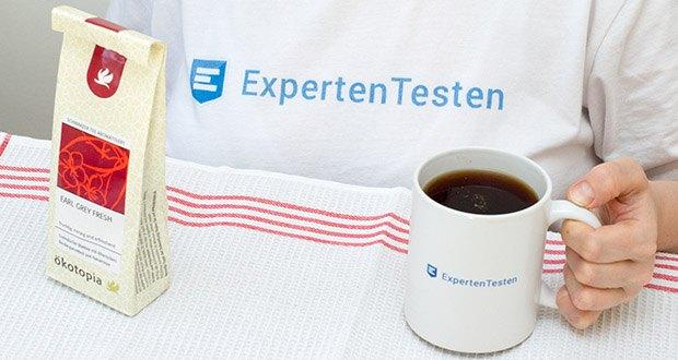 Ökotopia Schwarzer Tee Earl Grey 75g im Test - mit Orangenscchalen, Ingwer und Zimt