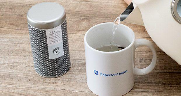 Rare Tea Company Jasmine White Silver Tip Tee im Test - ein Minute für eine leichte Infusion oder zwei Minuten für eine Stärkere