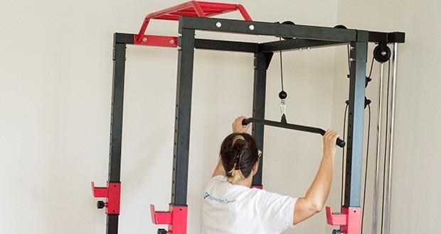 Wellactive Power Rack Kraftstation im Test - Ruder- und Latzug-Erweiterung: max. Zusatzgewicht: ca. 80 kg