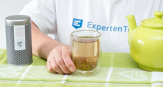 Rare Tea Company Jasmine White Silver Tip Tee im Test - Geschmacksnoten: Ein tiefes und berauschendes Aroma mit einem leichten und sanften Geschmack