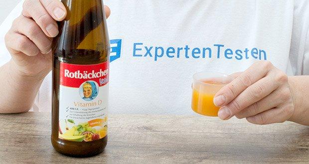 Rotbäckchen Vital Vitamin D im Test - Empfohlene tägliche Verzehrsmenge für Erwachsene: 2 x täglich 25 ml = 50 ml (Tagesportion)