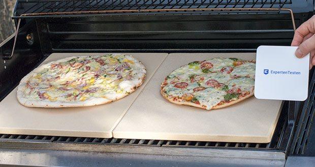 GARCON Pizzastein für Backofen und Gasgrill 3er Set im Test - knuspriger Boden und luftiger Belag garantiert