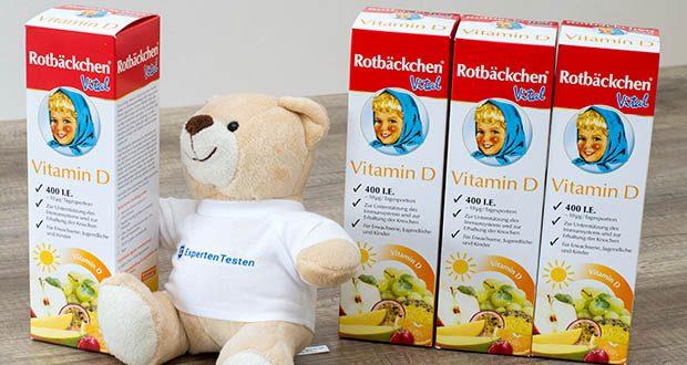 Rotbäckchen Vital Vitamin D im Test - die empfohlene tägliche Verzehrmenge darf nicht überschritten werden