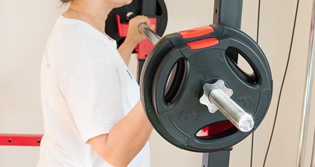 Wellactive Hantelscheiben Set im Test - nutzbar für praktisch alle handelsüblichen Hantelstangen und Kurzhanteln mit 30mm Bohrung