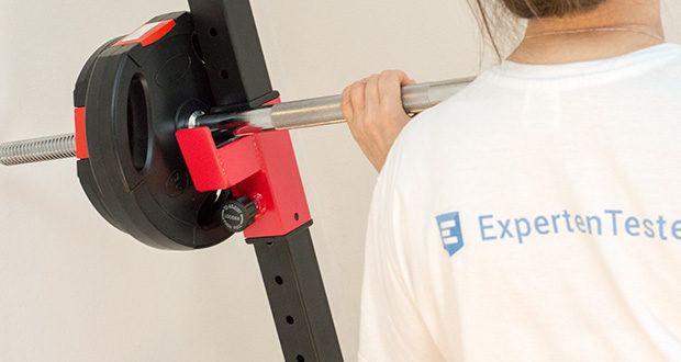 Wellactive Langhantelstange im Test - Griffstellen kreuzgerändelt, Griff-Maß je ca. 20 cm, für große und kleine Hände geeignet