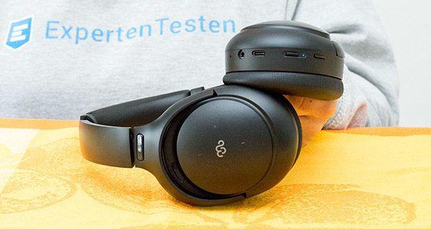 Mu6 Space 2 Active Noise Cancelling Kopfhörer im Test - aktivieren Sie den Sprachassistenten Siri oder Alexa mit zwei Drücken der ANC-Taste und verwalten Sie Ihre Musik und Ihr Telefon, ohne Ihre Hände zu benutzen