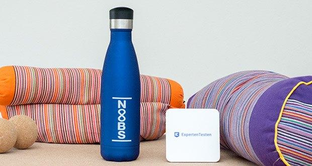 Noobs Premium Trinkflasche 500ml blau im Test - die perfekte Flasche für Fitness, Yoga, Sport und Outdoor!