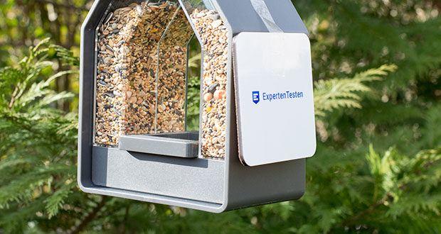 Emsa Vogel-Futtersilo im Test - platzieren Sie das Futtersilo so, dass Sie die Vögel optimal beobachten können