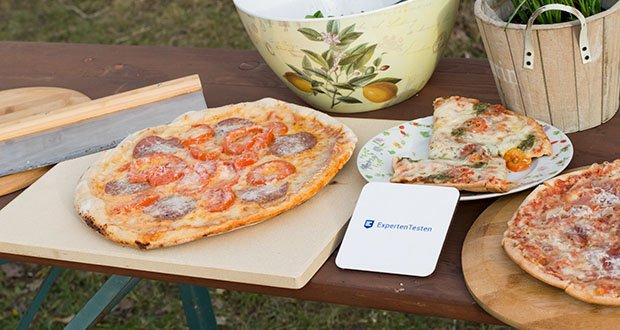 GARCON Pizzastein 4er Set im Test - das Ergebnis ist eine Pizza mit dem unverwechselbarem Geschmack wie vom Lieblingsitaliener - und das zu einem Bruchteil des Preises