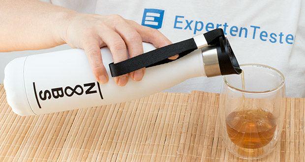 Noobs Premium Thermosflasche 500ml weiß im Test - eine Thermosflasche für heiße, kalte und kohlensäurehaltige Getränke