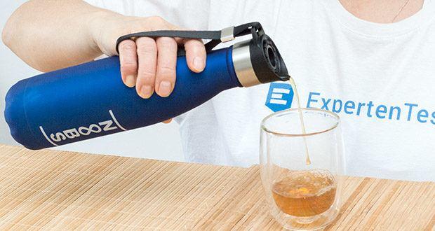 Noobs Premium Trinkflasche 500ml blau im Test - eine Thermosflasche für heiße, kalte und kohlensäurehaltige Getränke