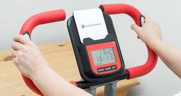 Wellactive Heimtrainer F-Bike Curved im Test - Trainingscomputer mit Zeit-, Geschwindigkeits-, Kalorienverbrauchs-, Distanz- und Pulsanzeige