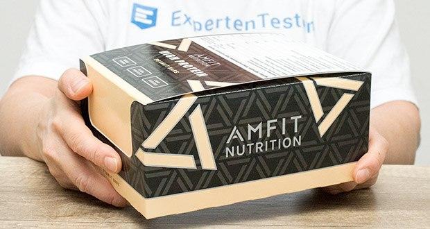 Amfit Nutrition Protein-Riegel mit Erdnüssen im Test - Protein-Riegel 12er Pack (12 x 60g)