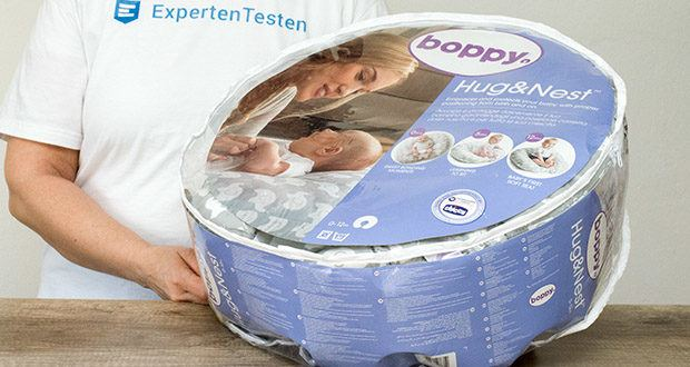 Kuschelkissen Chicco Boppy Hug und Nest im Test - empfohlenes minimales Körpergewicht: 1,36 kg
