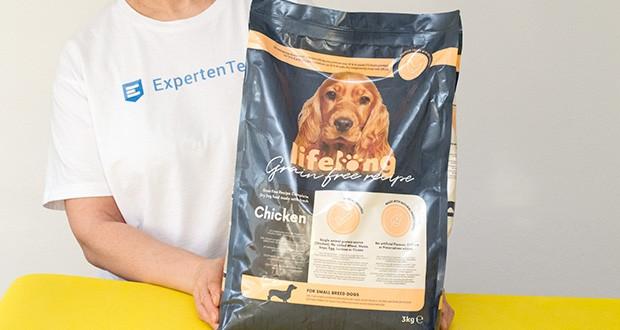 Lifelong Hundefutter für ausgewachsene Hunde mit frischem Huhn 3kg im Test