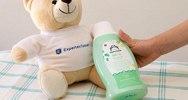 Mama Bear Baby Öl im Test - Bio-Oliven- und Jojobaöle spenden langanhaltende Feuchtigkeit
