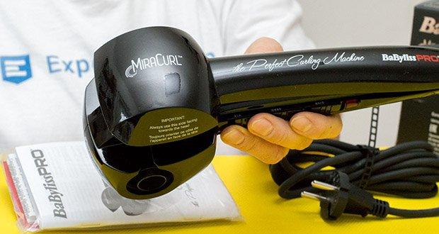 BaByliss Pro BAB2655E The Perfect Curling Machine MiraCurl im Test - die Lockenkammer ist mit einem Keramikheizelement versehen, das durch seine Leistungsfähigkeit besticht